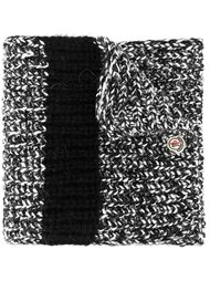 меланжевый вязаный шарф  Moncler