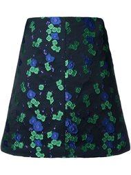 жаккардовая юбка А-силуэта с цветочным принтом G.V.G.V.