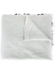 шарф с отделкой кружевом Claudio Cutuli