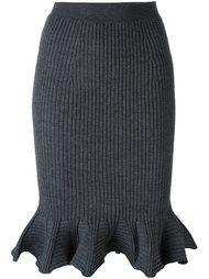 трикотажное платье с расклешенным подолом Lanvin