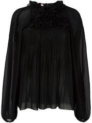 блузка с высоким воротником Giamba