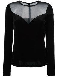 блузка с сетчатой панелью Lanvin