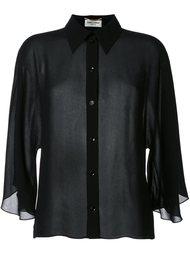 укороченная рубашка  Saint Laurent
