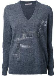 свитер c V-образным вырезом   Christopher Kane