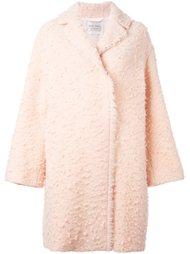 текстурированное пальто с бахромой Forte Forte