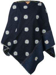 накидка с цветочной вышивкой Ermanno Gallamini