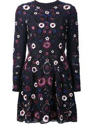 floral embellished longsleeved dress Needle & Thread
