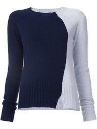 двухцветный свитер Derek Lam