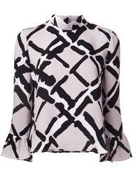 блузка с рисунком Derek Lam