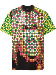 футболка с пиксельным принтом KTZ