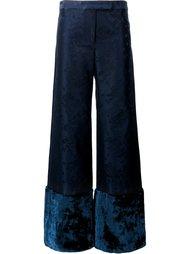 брюки с цветочными манжетами Rosie Assoulin