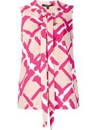 блузка с рисунком и шнуровкой Derek Lam