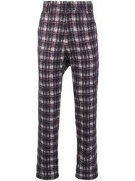 drop crotch tartan trousers Aganovich