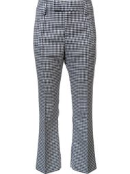 checked crop flare pants Smythe