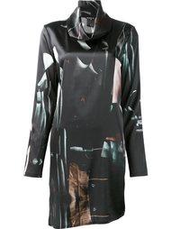 платье с абстрактным принтом Ann Demeulemeester