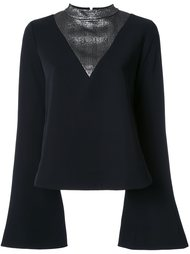 блузка с эффектом металлик  Ellery
