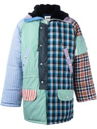 стеганое пальто с лоскутным узором Christopher Shannon