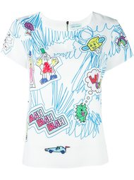 футболка с графическим принтом Mira Mikati