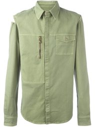 рубашка с карманом на молнии Versus