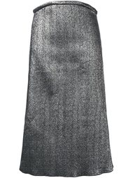 юбка с эффектом металлик  Ellery