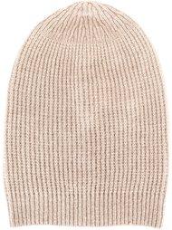 шапка-бини с отделкой в рубчик Rick Owens