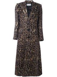 длинное пальто с анималистическим узором Saint Laurent