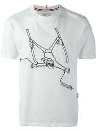 футболка с принтом лыжника Moncler Grenoble