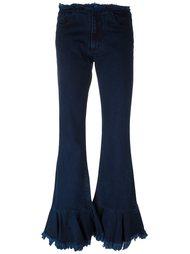 расклешенные плиссированные джинсы  Marques'almeida