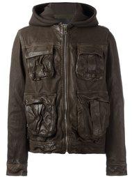 кожаная куртка с капюшоном Neil Barrett
