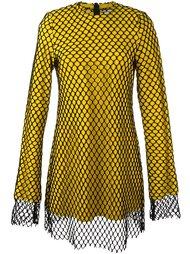 платье с сетчатым слоем Marques'almeida