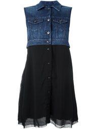 расклешенное платье с джинсовой панелью Diesel