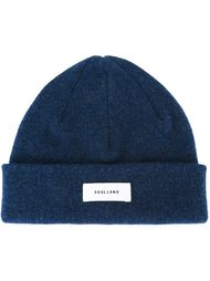 logo patch beanie hat Soulland