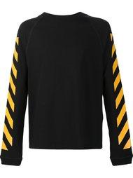 signature stripe sweatshirt Moncler X Off-White