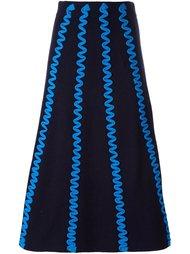 вязаная юбка с зигзагами Kenzo