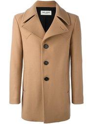 однобортное пальто  Saint Laurent