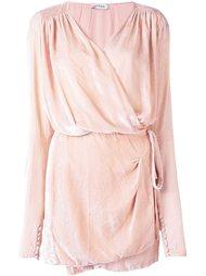 драпированное платье с запахом Attico