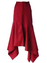 расклешенная асимметричная юбка Marques'almeida