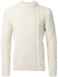 вязаный свитер с вырезом под горло Saint Laurent