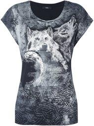футболка с принтом волка Diesel
