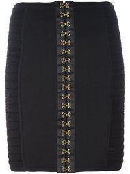 юбка на декоративных крючках  Balmain