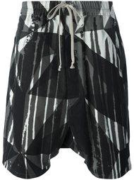 шорты с заниженным шаговым швом 'Camouflage' Rick Owens DRKSHDW