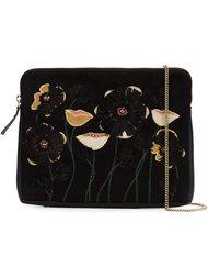 клатч с цветочной вышивкой Lizzie Fortunato Jewels