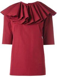 блузка с оборками вокруг шеи Nina Ricci