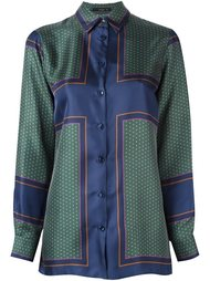 атласная рубашка с принтом Etro