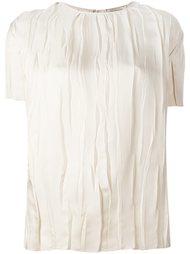 блузка с драпировками Nina Ricci