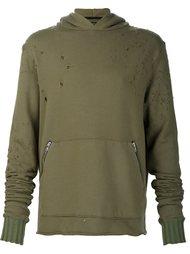 distressed hoodie Amiri