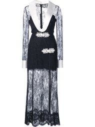plunge lace dress Alessandra Rich