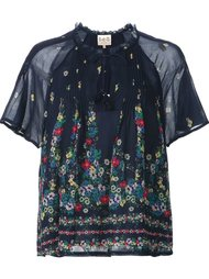 полупрозрачная блузка с цветочным принтом Sea