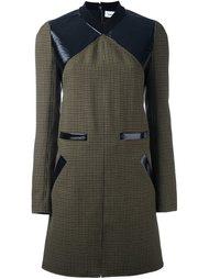 твидовое платье шифт с контрастной панелью Courrèges