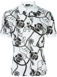 футболка-поло с принтом цепей  Alexander McQueen